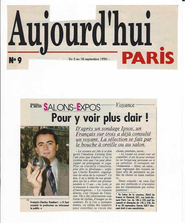 La presse parle du celebre voyant rambert for Salon voyance paris